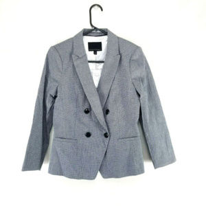 Banana Republic Seersucker Blazer Plaid Size 4